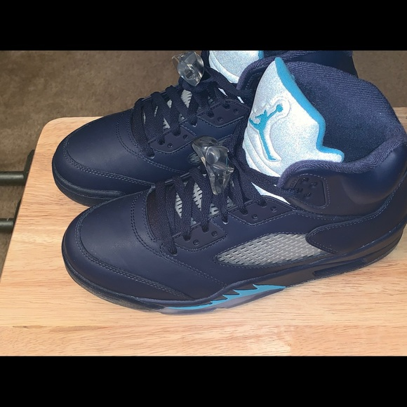 free shipping e6571 5c969 Air Jordan 5, Midnight Navy and Turquoise